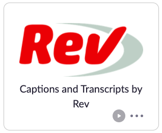 Captions and Transcripts,  Rev Zapp zoom app